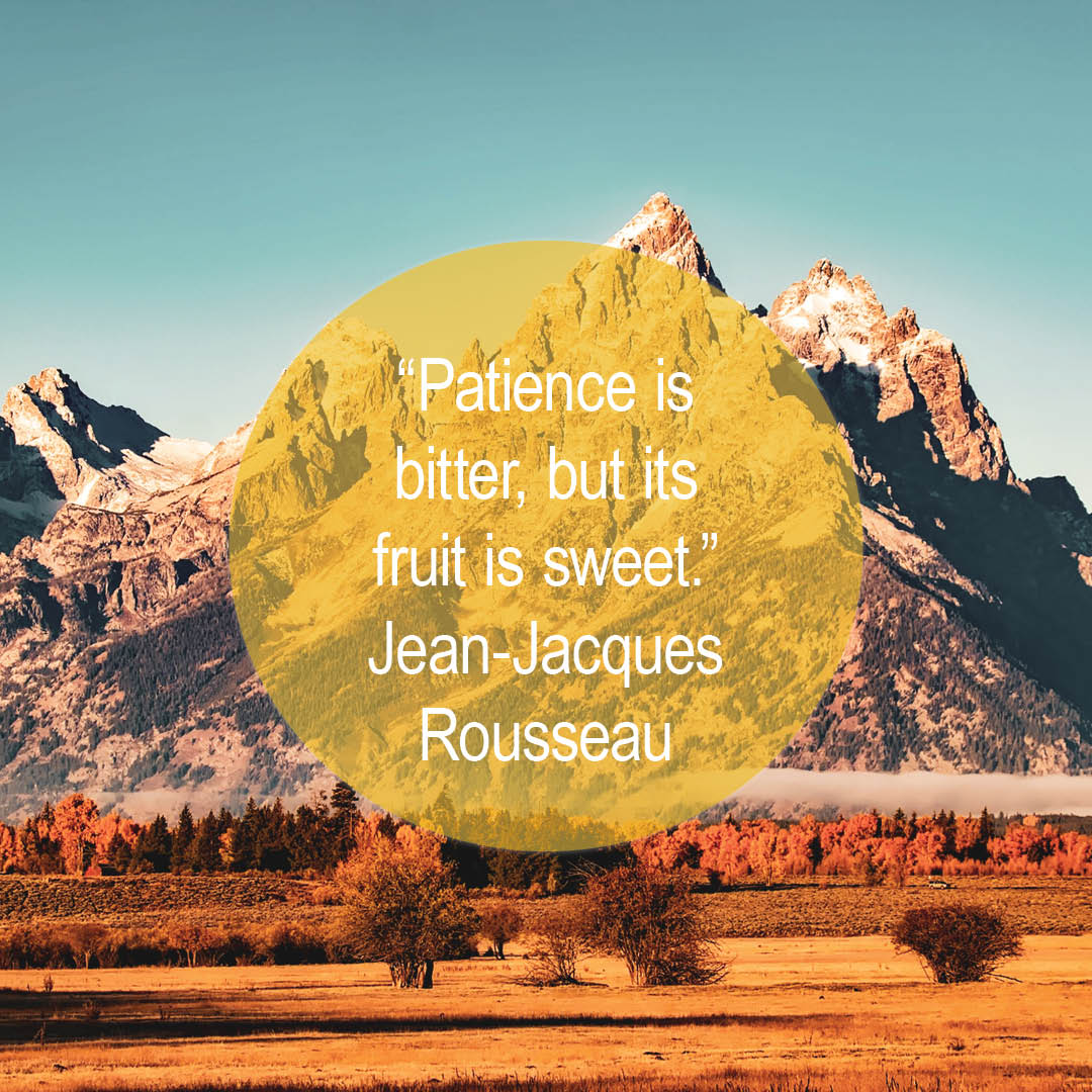 """""""Patience is bitter, but its fruit is sweet."""" —Jean-Jacques Rousseau ____________ #Quote #QuoteOfTheDay #QOTD #Inspiration #WeeklyInspiration #Aspirational #Mountain #Autumn #Wilderness #Outdoors #Backpacking https://t.co/zcYZ6TJt5X"""