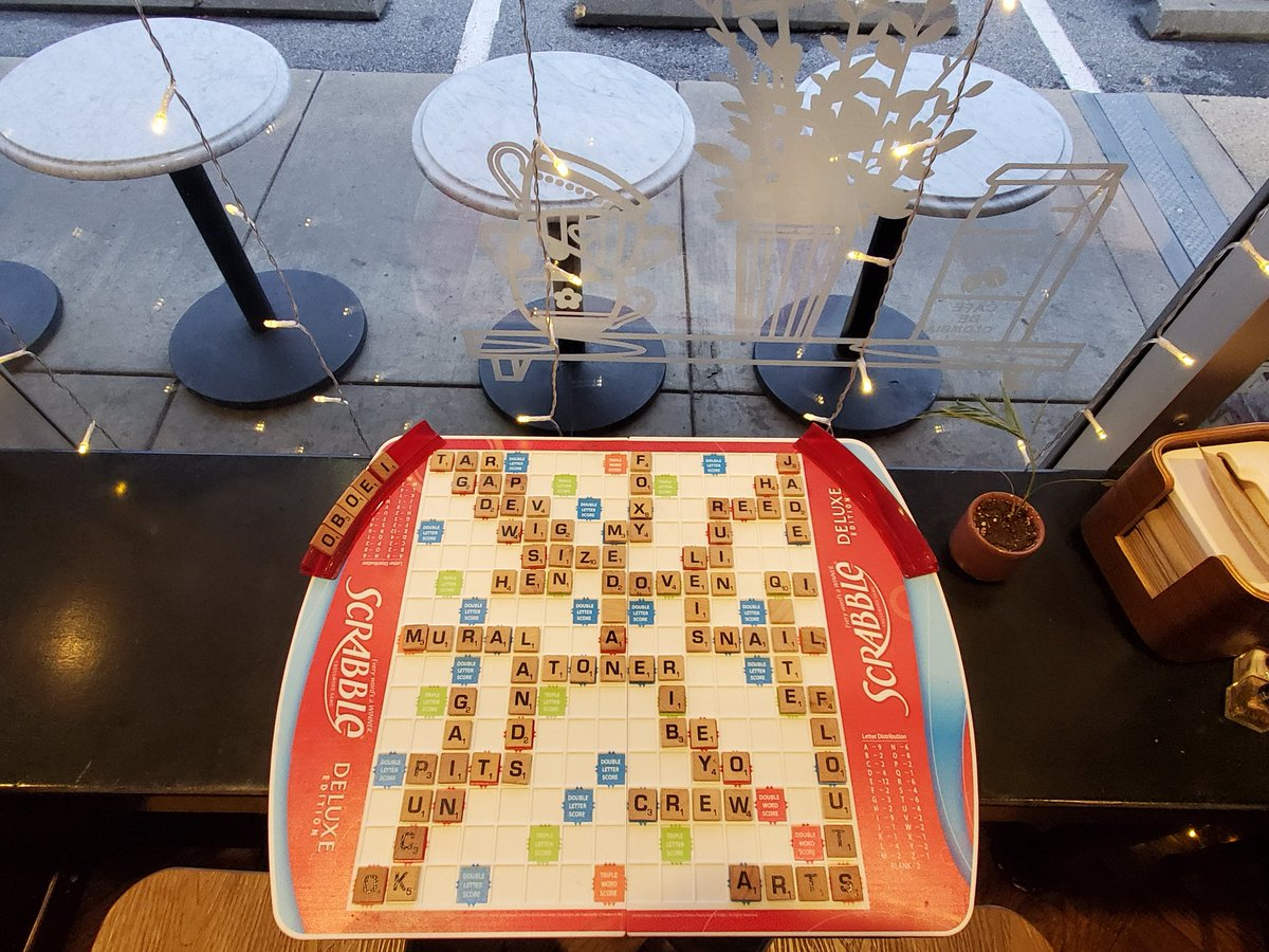 Oh, the weather outside is frightful  But a cup of coffee is delightful~ ☕  #javanation #scrabble #boardgame #boardgamer #tabletopgaming #tabletopgames #photooftheday #DAPSlife #GoAdelGo https://t.co/BQsUqgFHtN