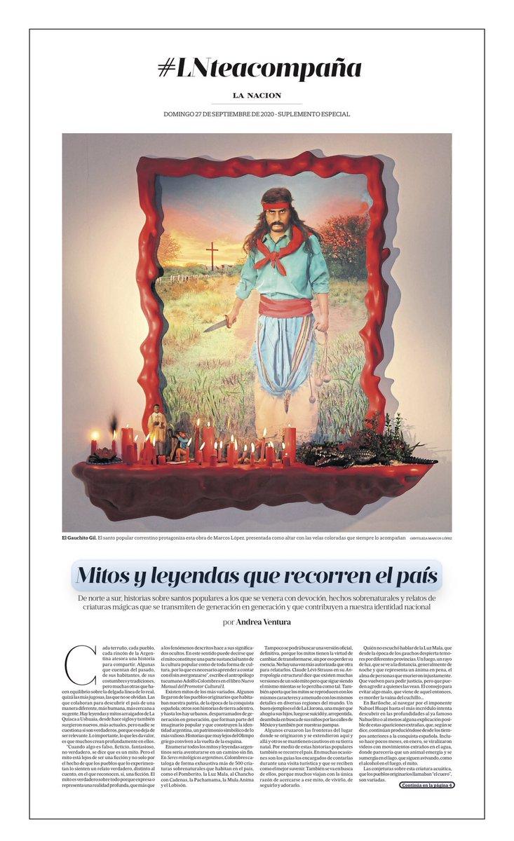 Hoy, Memoria visual de la #cultura popular en #LNTeAcompaña, #suplementoespecial dedicado a #mitos y #leyendas que recorren la #Argentina https://t.co/dYewBkODfY #arte #art @lncultura @IdeasLN @Col_Fortabat https://t.co/EETyJi2dGz