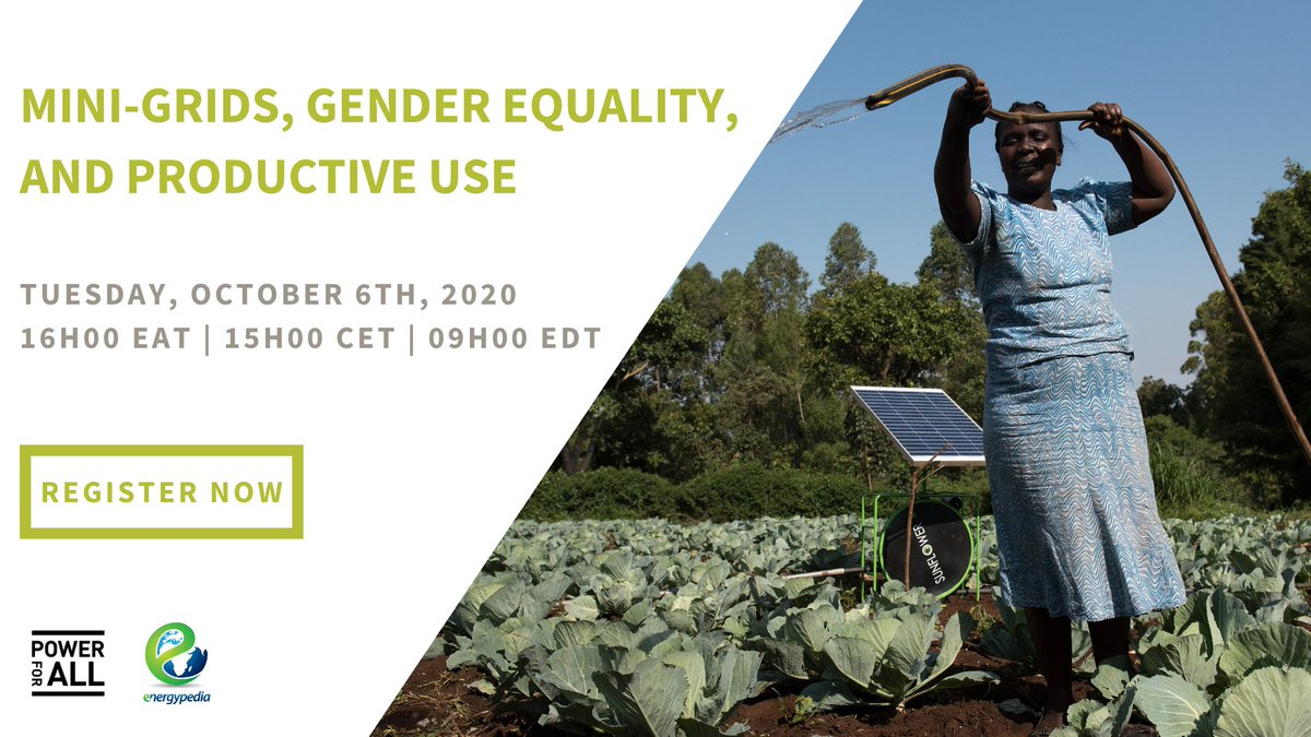 RT: Power4All2025: NEW #WEBINAR: On October 6, we will discuss the opportunities for synergy between rural electrification, #WomenEmpowerment, and agricultural transformation in Africa.   Join us 👉 https://t.co/25WGWLj8KJ   #SDG7 #SDG5 #CleanEnergy #Ren… https://t.co/QiM0nOuX8X