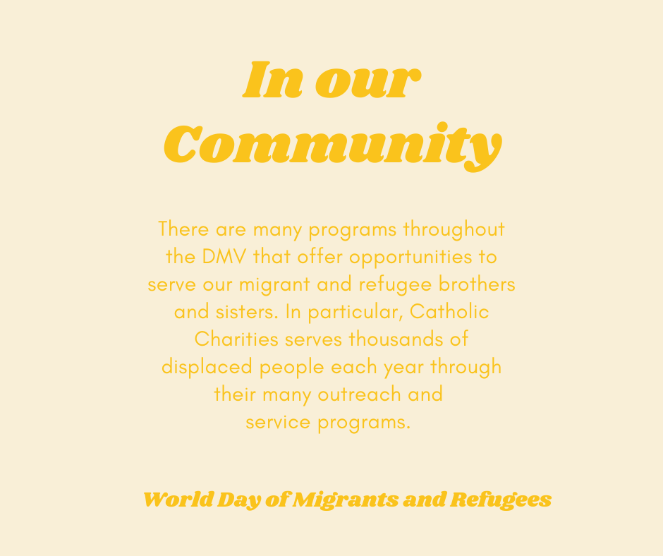 Each year, millions of people are displaced from their homes due to war, natural disasters or other unsafe living conditions. Today on this World Day of Migrants and Refugees, @Pontifex is encouraging the Church to respond. #WDMR2020 https://t.co/WeM99HlMYF