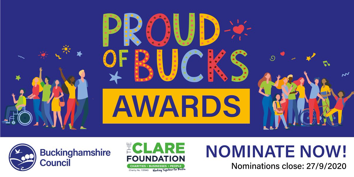 Last chance to nominate! We want to recognise local groups that formed in response to lockdown & individuals who've volunteered on a local level to provide help/support to those in need!  Nominate your local heroes for a #ProudofBucks award #POBAwards👏 ➡️ https://t.co/ipQb116dTG https://t.co/6oRb9egffh
