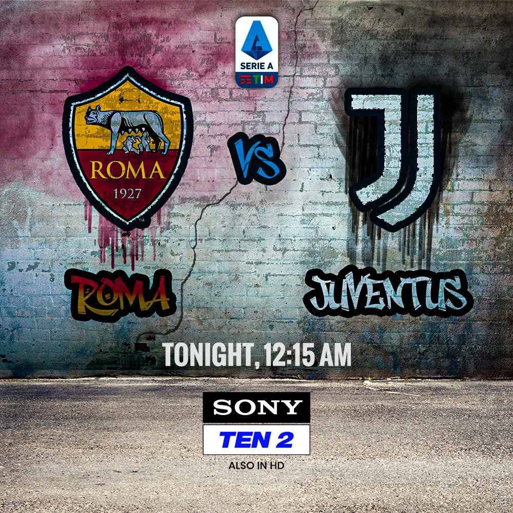 Here's your 🎟 to see the 🐐 in action 🔥 #GoatIt?   Who will you cheer for tonight? The Giallorossi 🔴 or The Old Lady ⚫  📺 Sony TEN 2  #SonySports #SirfSonyParDikhega #Sports #SerieA #WeAreCalcio #Juventus #roma #ronaldo #cr7 https://t.co/yY6ZmJZyfi