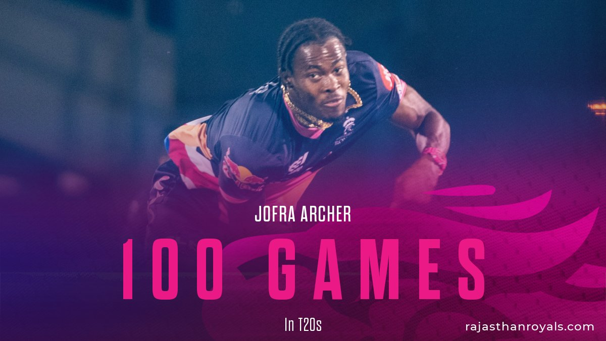 We already have the first century of the day. 💯⚡  #HallaBol   #RoyalsFamily   @JofraArcher https://t.co/ocOhx84iug