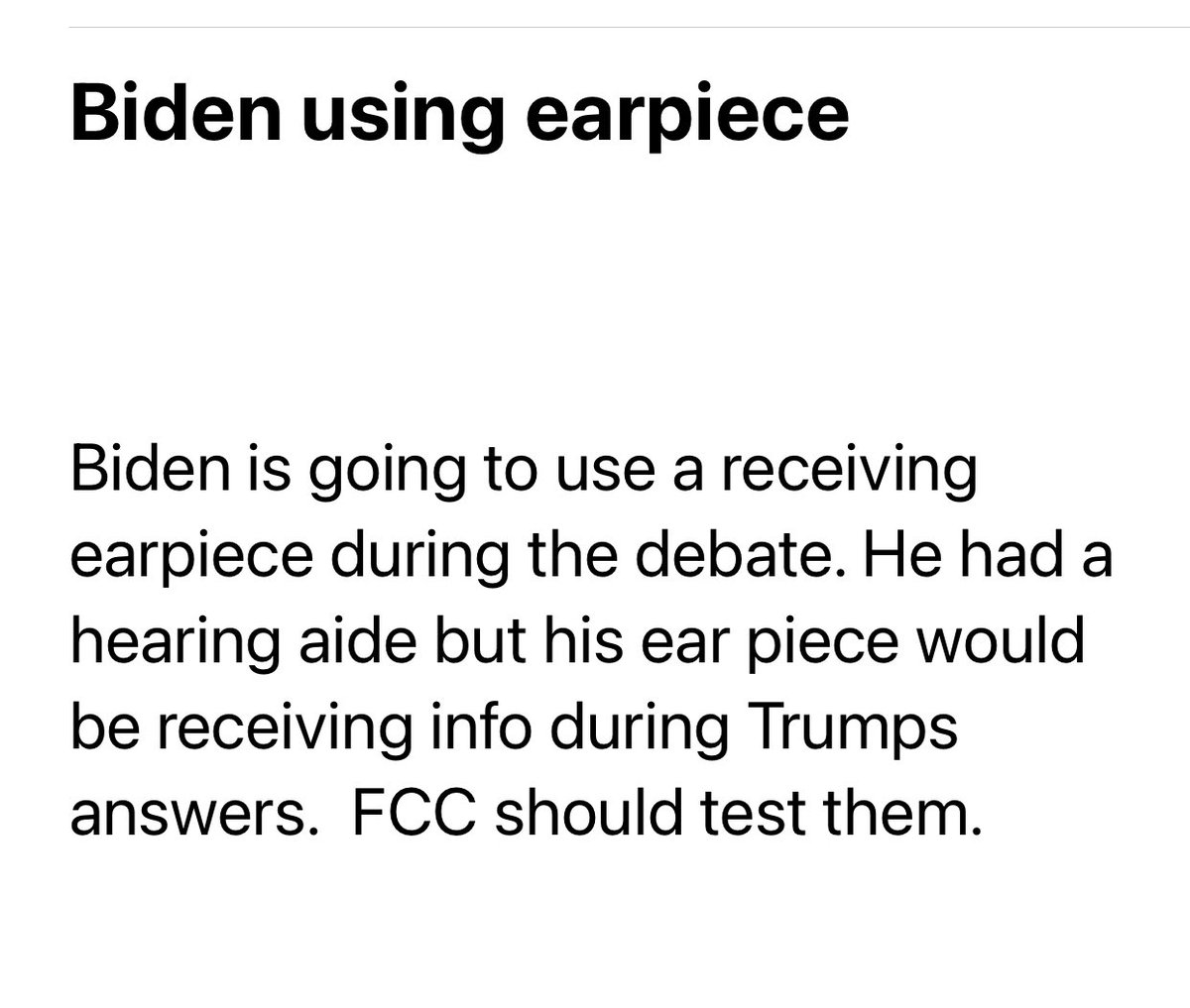 Getting a lot of emails / texts like this. Normally I'd think this is crazy talk but anything is possible with Team Biden. #wellbewatching https://t.co/fbfNyDnBSo