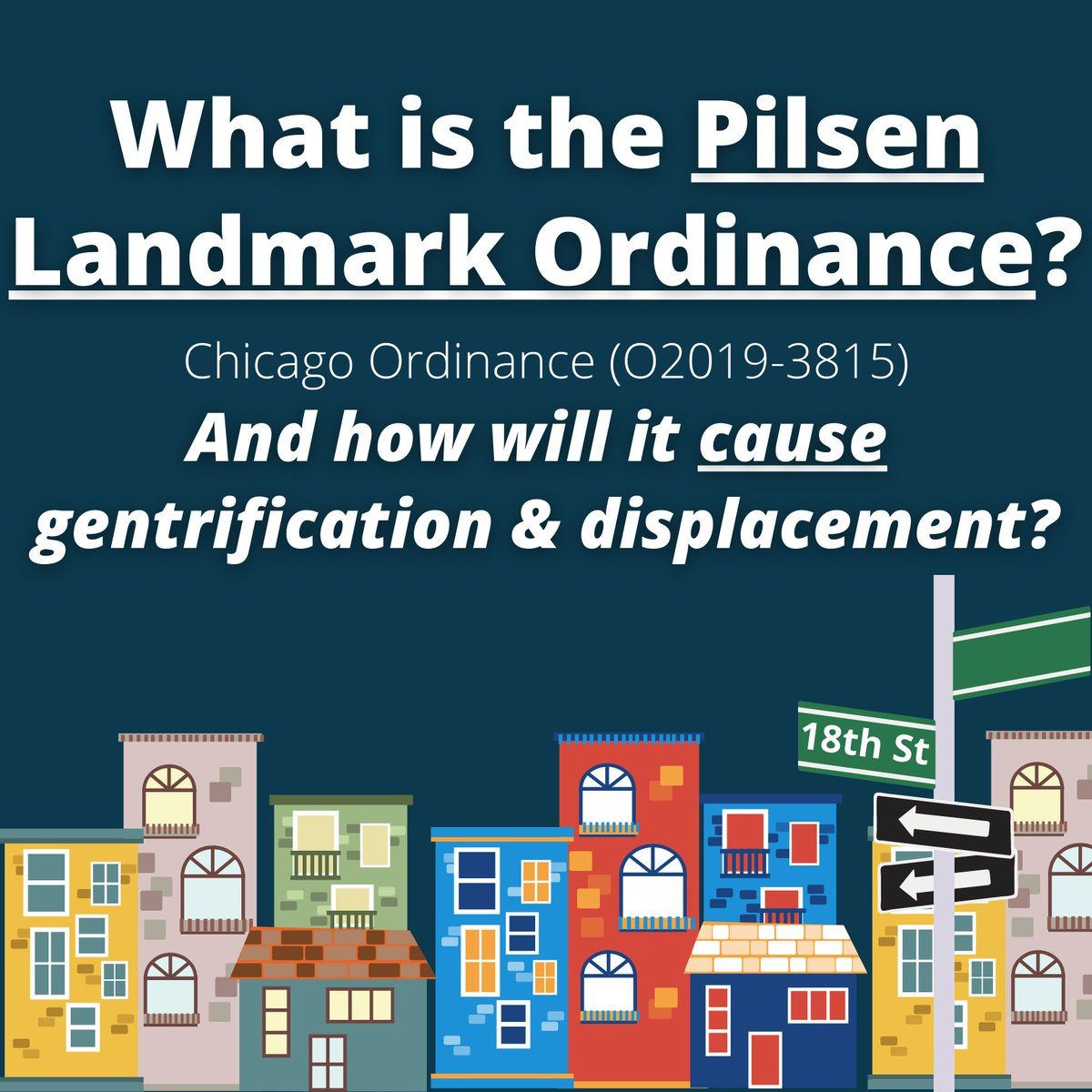 THREAD:  WHAT IS THE PILSEN LANDMARK ORDINANCE?   How will it CAUSE gentrification and displacement? And what can we do to STOP it?  Please share widely!  #NoPilsenLandmark #Pilsen #Gentrification #Displacement #ElBarrioNoSeVende! https://t.co/GzP6XSCi60