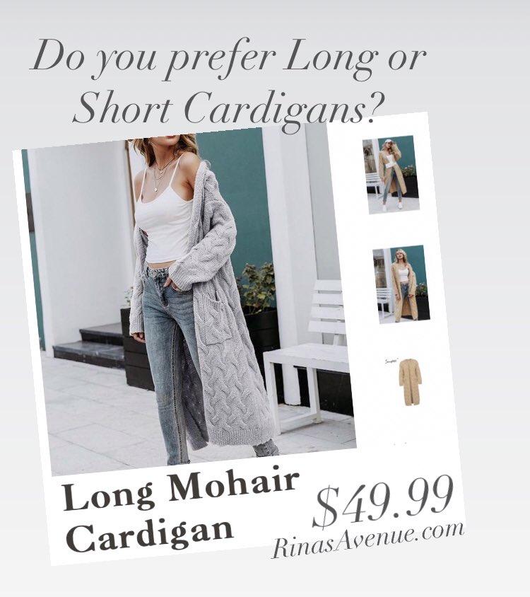 You prefer Long or Short? shop https://t.co/tCvmJKO0sN #Winter #Sweaters #Cardigans #WinterGear #WomensClothing #KeepWarm #WinterIsHere https://t.co/qvBK9lGKtD