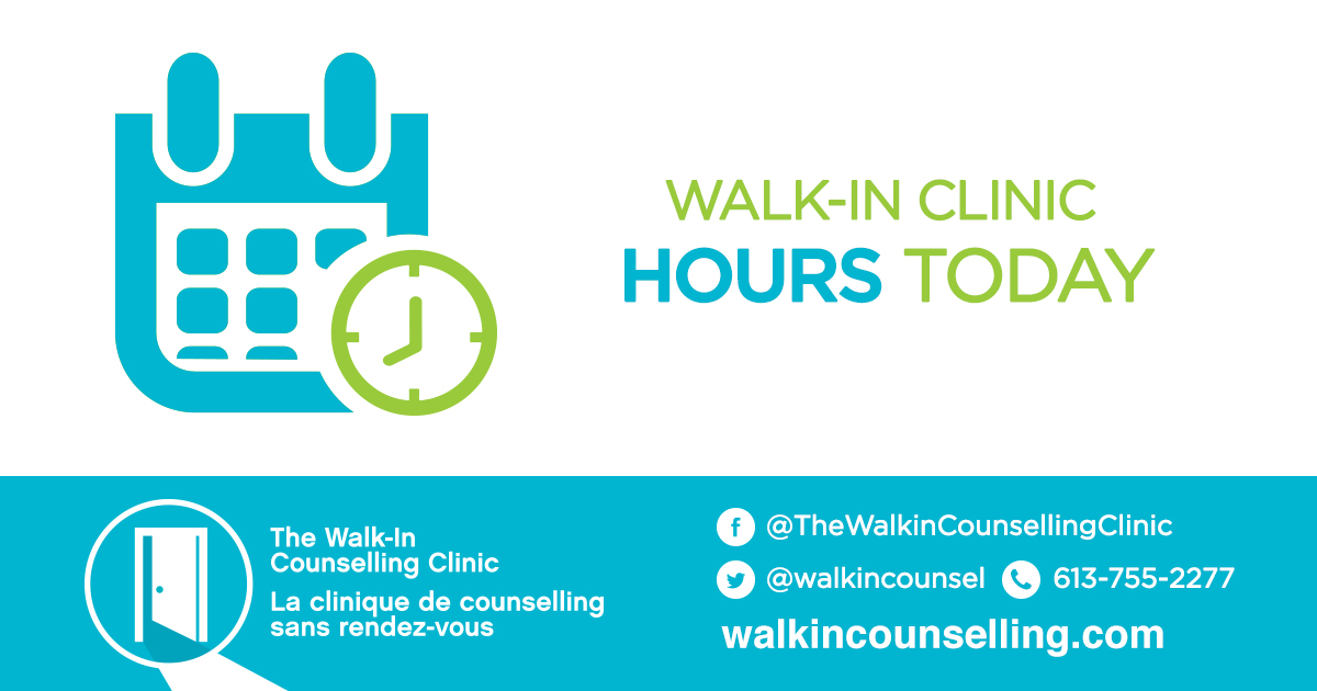 #WalkIn #Counselling services offered @JFSOtt will be provided in-person, by appointment only, during regular clinic hours (12-5 PM). Clients should contact the clinic at 613-722-2225 ext. 400. You can also call the @walkincounsel centralized number at 613-755-2277. https://t.co/MopCLYbbGJ
