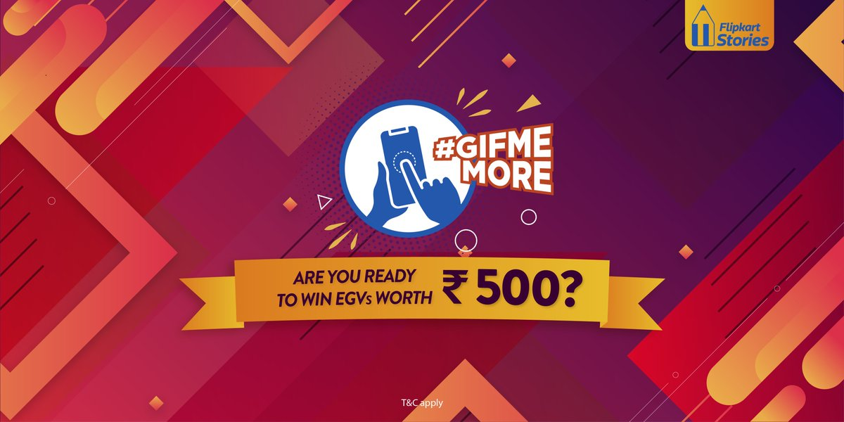 #ContestAlert Are you ready for another #GifMeMore contest? We've got one coming up shortly so stay tuned and stand a chance to win @Flipkart vouchers worth ₹500! https://t.co/XSgih6GOtD