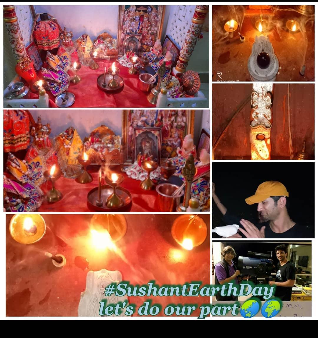 #SushantEarthDay🌍🌎🌏🌍 @nilotpalm3  @shwetasinghkirt  @narendramodi  @smitaparikh2  @vikirti  @_mallika_singh  After worship to God. 🔱🔱🙏🙏 https://t.co/HtMvHSIdFM