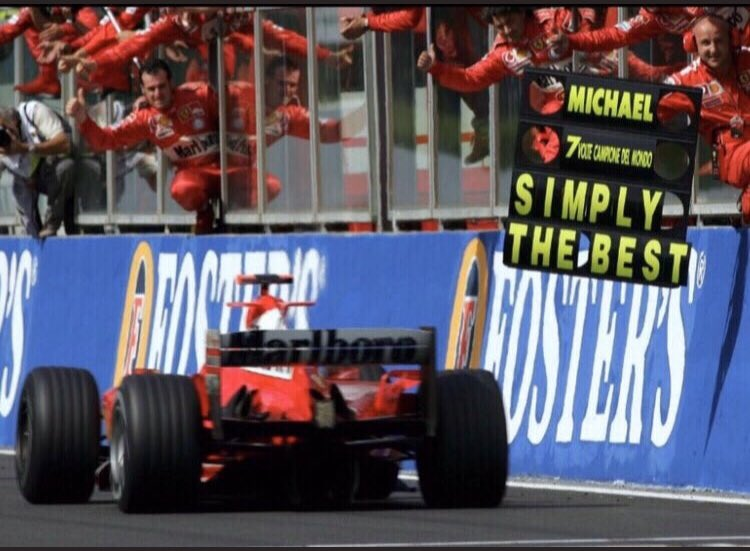 """@_MSchumacher Always will be the Best ..Not just for the amount of titles he won ..but for the way he won them ..In """"Not"""" the fastest car Every Week!!!  🐐🏆🏆🏆🏆🏆🏆🏆#KEEPFIGHTINGMICHAEL 😎 https://t.co/B3QT0ZfSQo"""