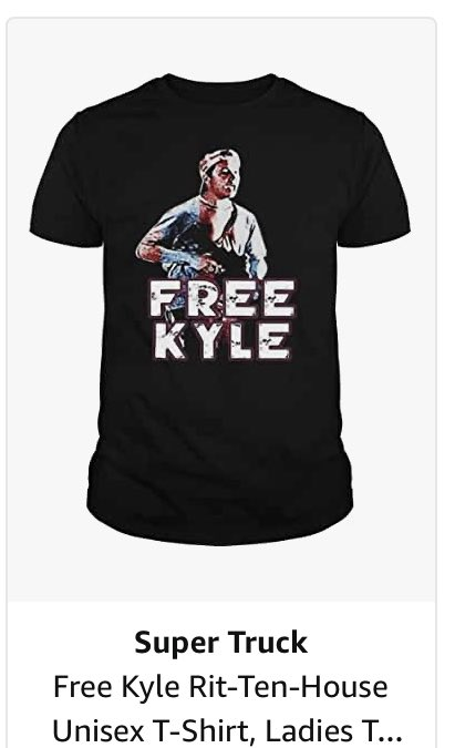 Nearly an entire day later, @amazon is still selling dozens of shirts and hats glorifying Kyle Rittenhouse, the Kenosha shooter.   A truly disgusting way to make money. https://t.co/NrAl3BSEwh https://t.co/Mmk1ol9yXz