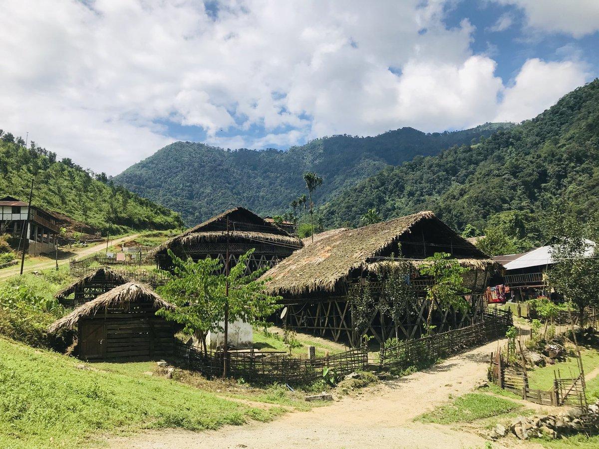 Rina village. It's so small that football ground is half the size. 28 houses. #ArunachalPradesh https://t.co/aLiT6lXKtA