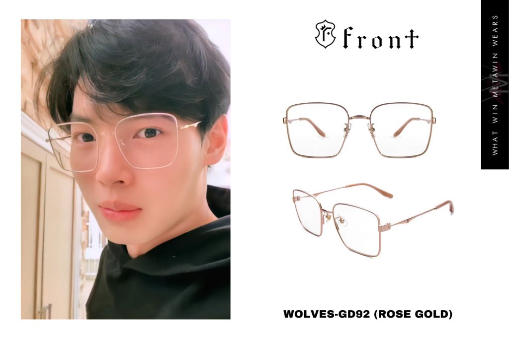 ✨Win Metawin wears  👓 FRONT WOLVES-GD92 (ROSE GOLD)  💵 5,000THB (Sale 3,500THB)  📷 IGS gareengreenaf7   #front #fronteyewear #winmetawin #วินเมธวิน #whatwinmetawinwears #snowballpower https://t.co/1Tl24RPhgQ