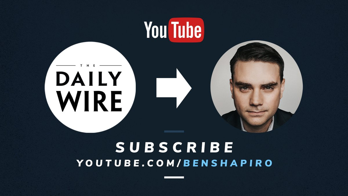 Have you heard the news? Daily Wire is making a Youtube channel move starting on September, 28th! The @benshapiro Show will be going from The Daily Wire channel over to https://t.co/HQr6vK67OT! We will also be adding exclusive content for you to watch so go and subscribe now! https://t.co/JwsIbLCBGu