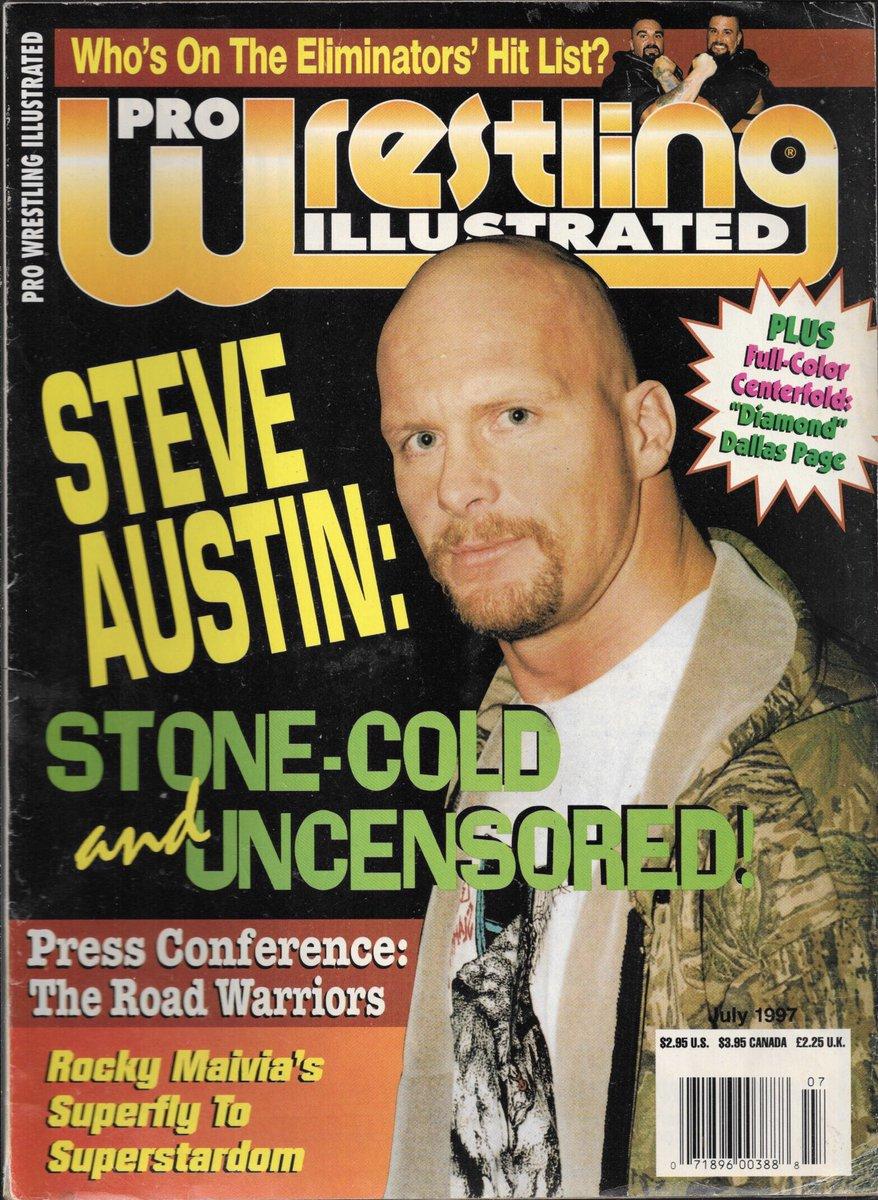 Pro Wrestling Illustrated July 1997 Steve Austin: Stone-Cold and Uncensored @steveaustinBSR  . . #StoneColdSteveAustin #StoneCold #SteveAustin #stunner #wwf #pwi #uncensored #beer #vader #goldust #brethart #wwe #WWEClash https://t.co/jzkaDymuOG