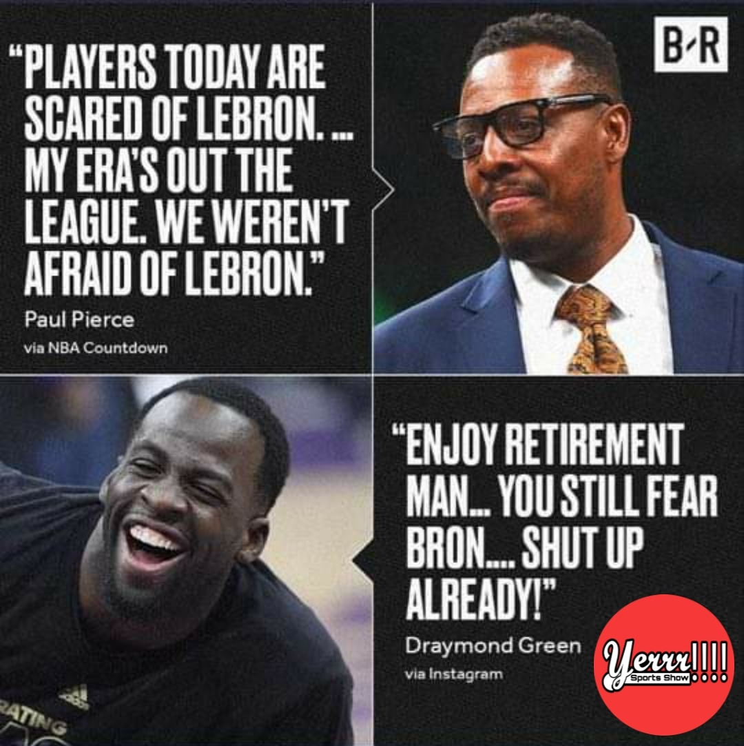 Paul Pierce be with all of the Hateration but Dray was not having it in this Dancery lol.   Subscribe to our YouTube  https://t.co/k3BFnMFGuS  #biggerthansports  #yerrrsportsshow   #nba #nbafinals #nbabasketball #nbaplayoffs #nbamemes #nbadraft #nbanews https://t.co/KPsuvGknsl