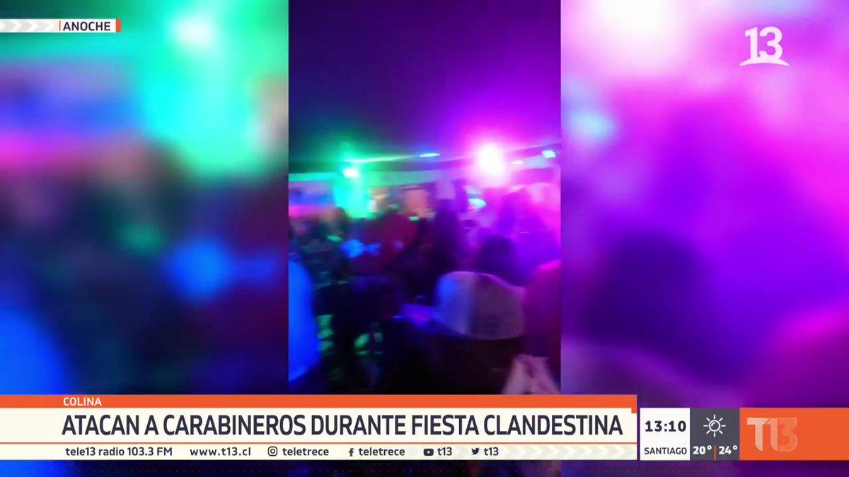 Comienza 📺 #T13Tarde   Atacan a Carabineros en fiesta clandestina en Colina.  EN VIVO » https://t.co/TB6JZxXtmp https://t.co/EASttbnf0i