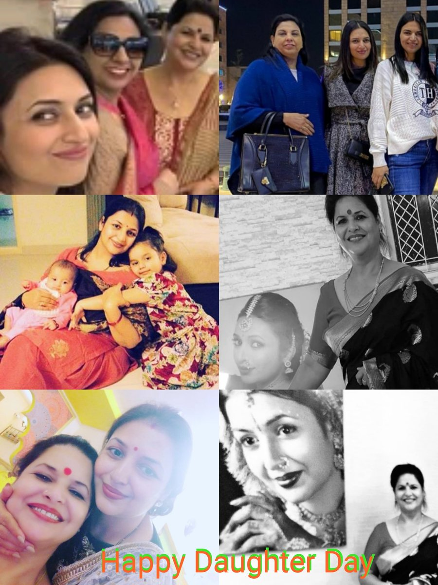 Happy Daughter Day ❤️ The Love Between a Mother & Daughter is FOREVER 💞💕💞 @Divyanka_T  #DivyankaTripathi #DivyankaTripathiDahiya #NeelamTripathi #PriyankaSameerTiwari  #ManjuDahiya #RiyaDahiya https://t.co/XJEUr0yN78