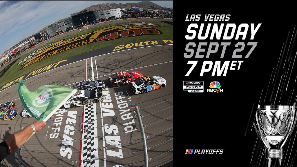 Sunday night @NASCAR from @LVMotorSpeedway! Tune in to NBCSN at 6:00 PM CT.