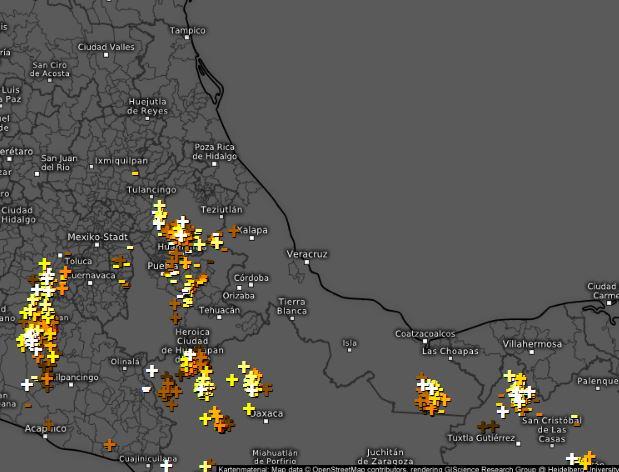 4:15 pm. La actividad de nublados asociados a lluvias o tormentas aisladas  ha incrementado en montañas hacia las regiones de Coscomatepec, Alpatlahuac, Ixhuatlán del Cafe, Tepatlaxco, Tomatlán, Chocaman y localidades aledañas. #spcver #septiembre #México https://t.co/CEGWrJ3paI