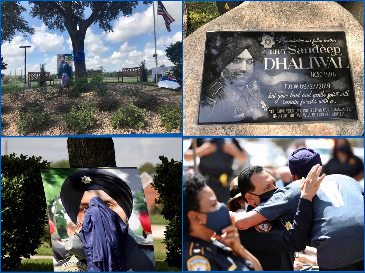 Today marks the 1 year anniversary of the death of our fallen brother Deputy Sandeep Dhaliwal. A small ceremony was held in the community he patrolled and residents unveiled a marker with his name & image. https://t.co/u6VNhdM2VQ