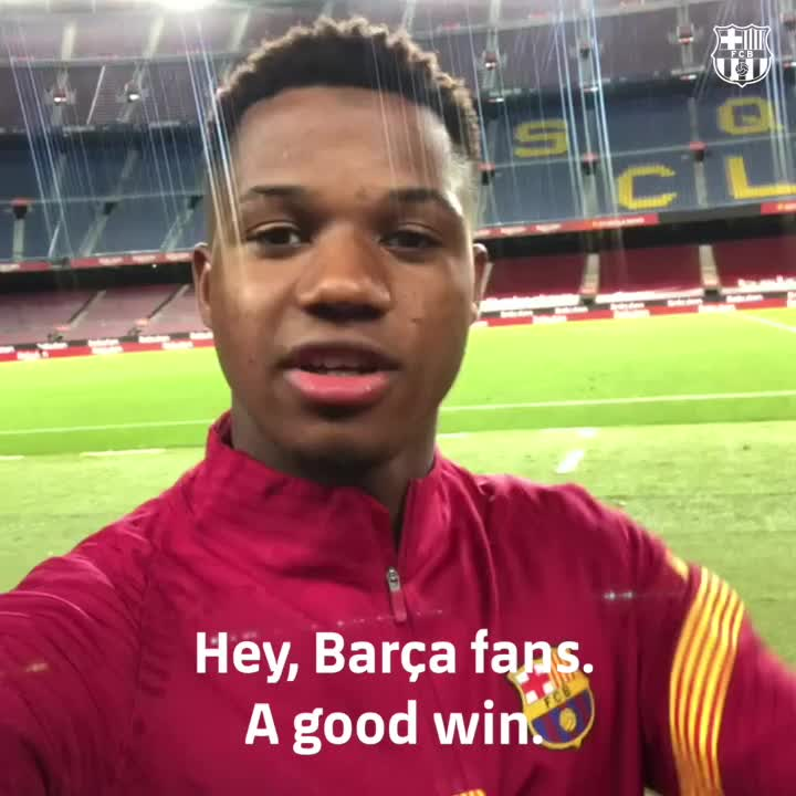 ⚠️ A special message to Barça fans from @ANSUFATI https://t.co/PCtl2iNUkf