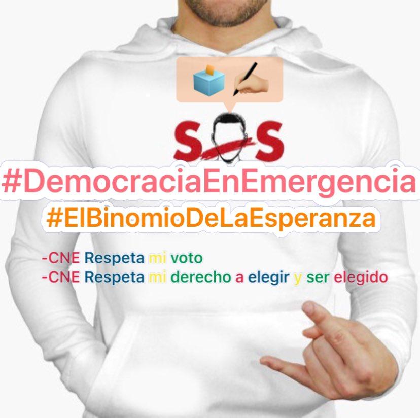 #EcuadorSOS 🆘 🇪🇨   #DemocraciaEnEmergencia   -CNE respeta mi voto.   -CNE respeta mi derecho a elegir y    ser elegido.   @CIDH  @ONU_es @Pontifex_es @bbcmundo @CNNEE @nytimeses https://t.co/N6ofqSS5TJ