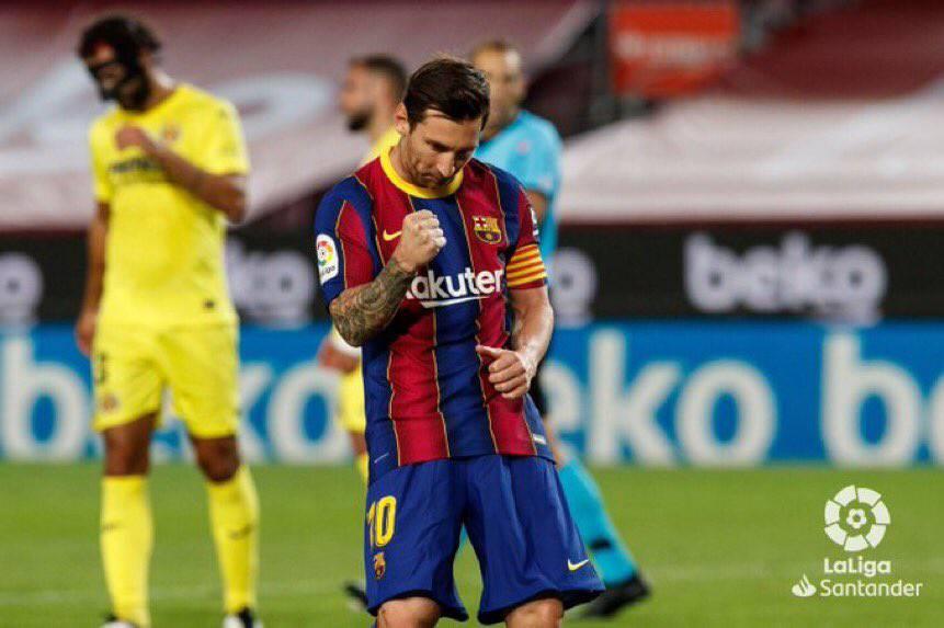🗣[@gerardromero] | Leo Messi's celebration today was dedicated to his friend Luis Suarez, who also celebrates the same way. https://t.co/vQZhW7LFo0