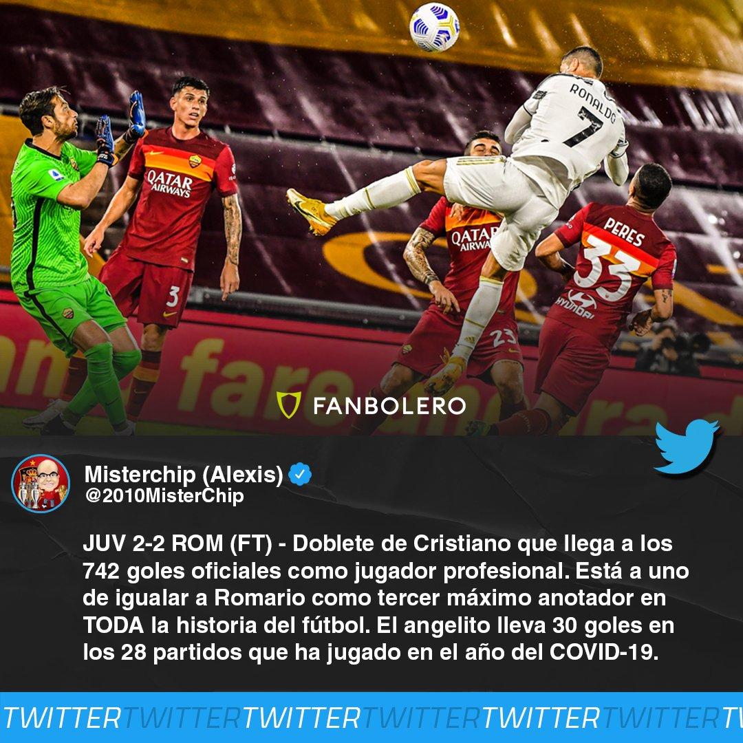 ¡HISTÓRICO!  Además, CR7 alcanzó los 450 goles en las cinco mejores ligas de Europa, ¡el portugués está 'On Fire' con la Juve! 😎🔥🇮🇹🇵🇹  #Cristiano #CristianoRonaldo #Juventus #SoyFanbolero https://t.co/ydGjqUaHvZ