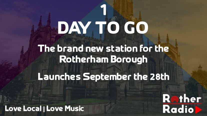 1 Day To Go... #LocalRadio #Rotherham #RotherRadio #Sheffield #SouthYorkshire https://t.co/m4kczn8HQT