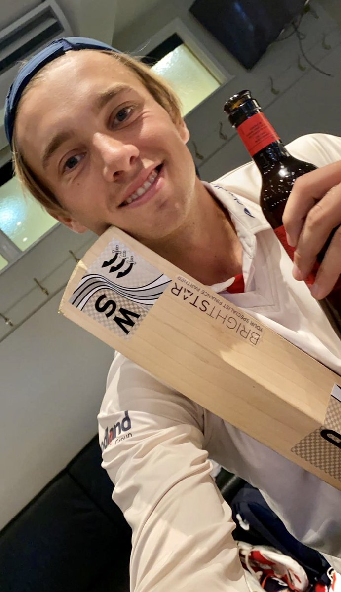 Nice touch from our @YoungBrightstar Captain @aaronbeard_14. Sent from the winning dressing room at @HomeOfCricket. @BrightstarHUB are extremely proud of you 🌟