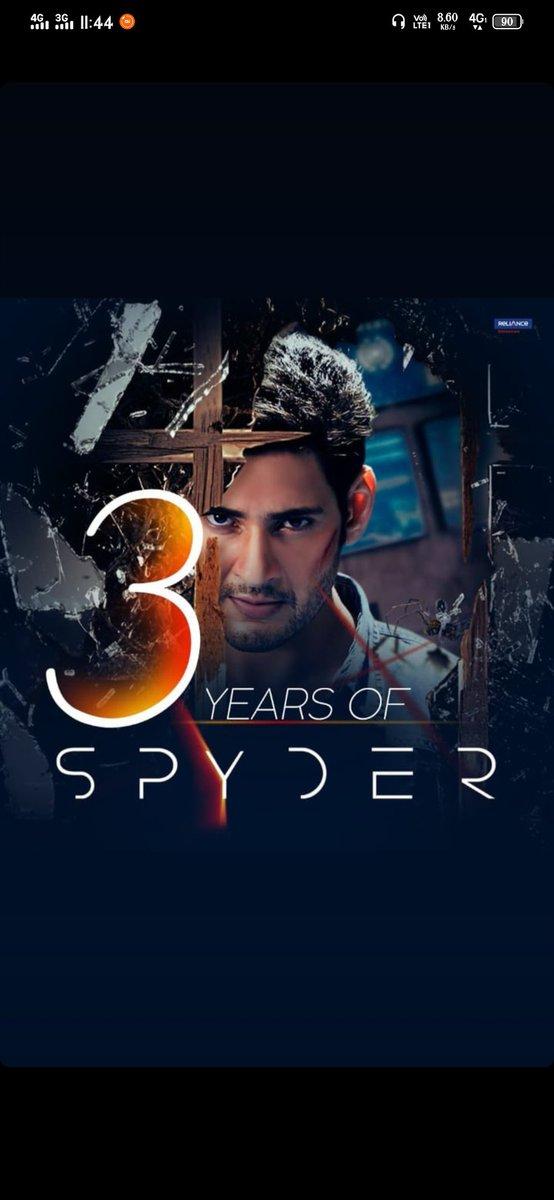 Such a wonderful movie 3 years of #Spyder movie #3YearsForSPYder how many time u watch the movie it's.. Not boring ❤️❤️❤️music 🎶 super Directors @ARMurugadoss sir 🙏 🙏 🙏 @urstrulyMahesh #SarkaruVaariPaata #MaheshBabu #SSMB https://t.co/PTAHeWzk4m