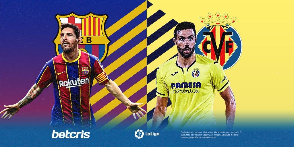 Dia de #Barcelona ⚽🥅  A equipe de #Messi continua sua #remontada pra esquecer a temporada passada e faz sua estreia na #laliga 🇪🇸.  Como será a partida? Faça seus palpites agora em #Betcris!  #barça #lionelmessi #villarreal #espanha #futebol #apostas #apostasonline https://t.co/8SX9zQXeq9
