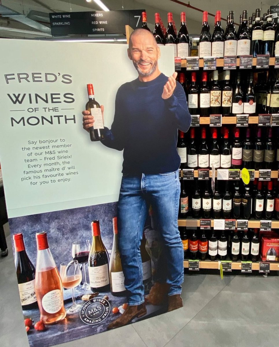 Say bonjour to @fredsirieix1 in store now! Check out his top picks from our Classics wine range. 🍷