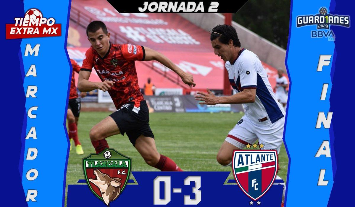 |FINAL| #LigaBBVAExpansionMX  En partido pendiente, @Atlante consigue la victoria ante @Coyotes_Oficial   #Guard1anes2020 | #Jornada2  #MásAlláDe90Minutos https://t.co/LoJxERxVEU