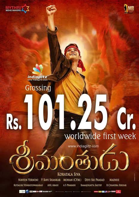 #Srimanthudu 100Crs Gross in 7Days Dont keep FAKE bro 1st of all delete this & post official collections..  I think it's a mistake have you done  Retweets & Likes kotina MB FANS jaara chusukondi👍  #Superstar #MaheshBabu #SarkaruVaariPaata @urstrulyMahesh #3YearsForSPYder #Spyder https://t.co/57mvJrlmAp https://t.co/Fu2PoPMNic