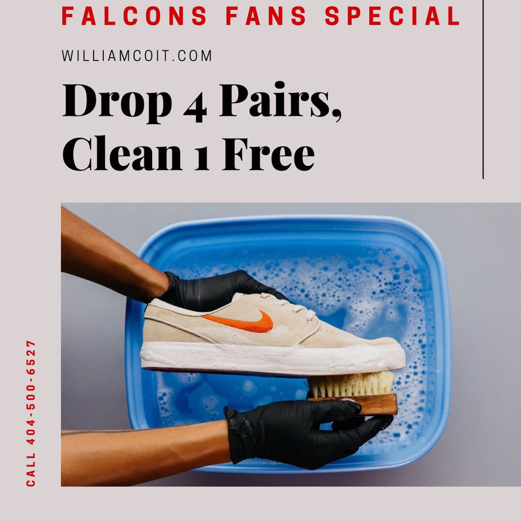Have Dirty Sneakers or Golf Shoes? Call or Text 404-500-6527 . https://t.co/ssuS4BLWvT . #atlanta #atlantafalcons #atlantahawks  #atlantaunited #sneakers #braves #hawks #sneakerheads #falcons #falconsvsbears #RiseUpATL https://t.co/YmEwzQvYWU