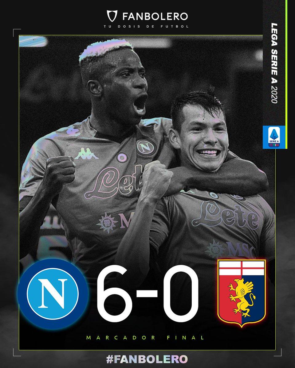 ¡JUEGO, SET Y PARTIDO!  Con goles de Zielinski, Mertens, Elmas, Politano y un doblete de Lozano, el Napoli vapulea al Genoa; el 'Chucky' fue titular y disputó 66 minutos en la victoria del conjunto 'Gli Azzurri' 😍💙🇮🇹🇲🇽  #NapoliGenoa #SerieA #HirvingLozano #SoyFanbolero https://t.co/onR0uZeTP9