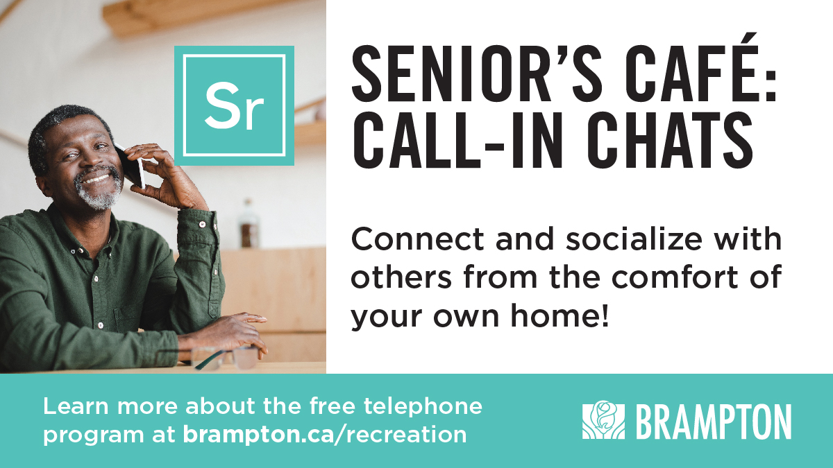 Seniors can now make a new friend from the comfort of their own homes through Senior's Cafe Call-in Chats! We're connecting seniors to other seniors in #Brampton via phone during this trying time. 📱  Seniors - simply call 905.874.3348 to set up a date that works for you.❤️ https://t.co/tZbJ4nUp1H