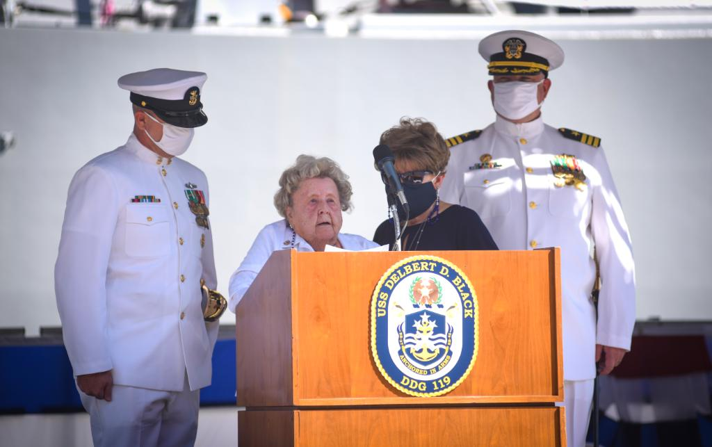 WELCOME ABOARD! #USNavy has a new Arleigh Burke-class guided-missile destroyer #USSDelbertDBlack (DDG 119), Sept. 26th in Port Canaveral, Fla. Read More: ⬇️ go.usa.gov/xGdsc Get the facts: 👇 go.usa.gov/xGdsx