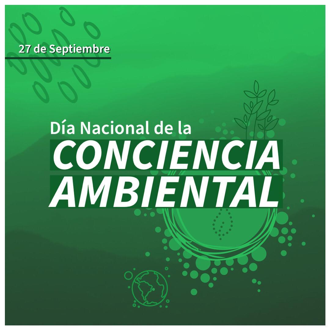 𝑪𝒐𝒏𝒔𝒕𝒓𝒖𝒚𝒂𝒎𝒐𝒔 𝒖𝒏𝒂 𝒏𝒖𝒆𝒗𝒂 𝒏𝒐𝒓𝒎𝒂𝒍𝒊𝒅𝒂𝒅 𝒄𝒐𝒏 𝑪𝒐𝒏𝒄𝒊𝒆𝒏𝒄𝒊𝒂 𝑨𝒎𝒃𝒊𝒆𝒏𝒕𝒂𝒍 🌎♻️🌿  27 de Septiembre- Día Nacional de la Conciencia Ambiental. https://t.co/MIkIU3NqBt