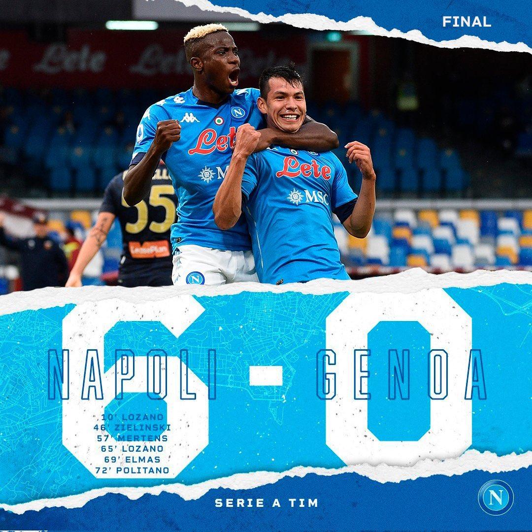 @sscnapoliES goleó 6-0 al @GenoaCFC en la #Jornada2 de @SerieA , con doblete de @HirvingLozano70 🔝🇲🇽 https://t.co/eCYteMoDFj