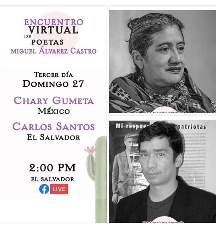 Nos vemos hoy 27 de septiembre en este magnífico festival que se lleva a cabo en El Salvador a través de facebook live de La página desértica  ⏰ 15:00 hrs Centro de México, Panamá, Colombia y Perú  ⏰ 14:00 hrs Centroamérica https://t.co/cInP0xpEKV