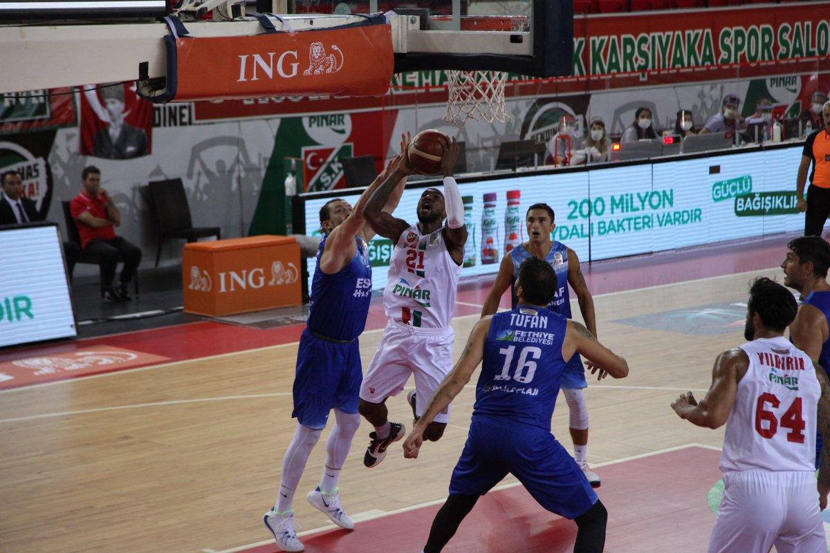 ING Basketbol Süper Ligi | Pınar Karşıyaka 92-55 Lokman Hekim Fethiye Belediye Spor  🔗https://t.co/JTwYdWnF7z https://t.co/SEYUPNJOYe