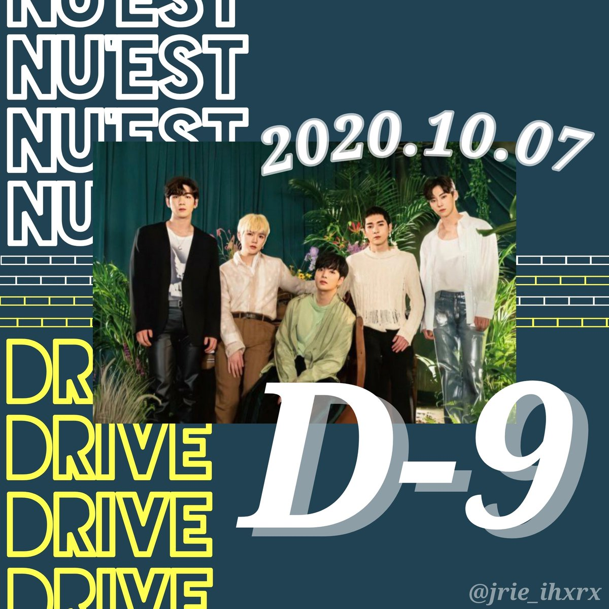 """Loves❤ The Japanese comeback """"Drive"""" is coming up, we have to start promoting the comeback on our own  We can promote it with images along with the HT #NUEST_DRIVE and the return date """"October 07""""  > Don't forget to mention the guys > You can use the picture below ^^ https://t.co/4r331Tsjg9"""