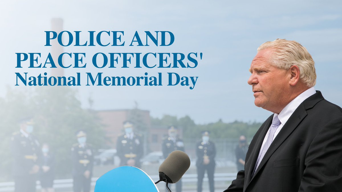 Today, let's all take time to remember those police and peace officers we've lost in the line of duty. Thank you for your service to your country and community.