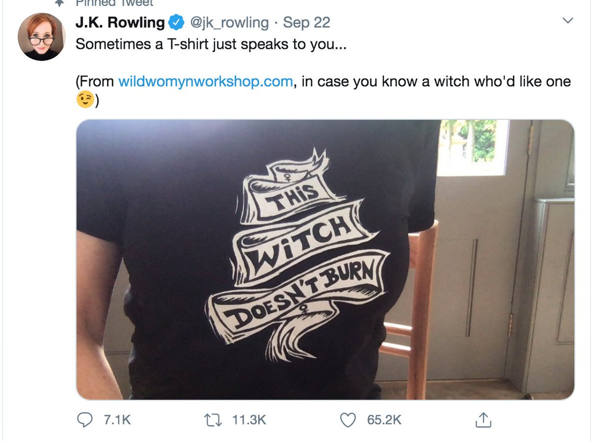 If you don't want to bully trans people, you should not support JK rowling who, just the other day, advertised for a website whose purpose is to sell merchandise that bullies trans people.   (CW: transphobia) https://t.co/Jy9ksEg21t https://t.co/CwPSQaopj0
