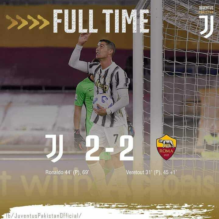 Full time  Roma 2-2 Juventus  #Schizo #footballgames #footballedits #football #footballvideos #footballtraining #footballmemes #dumbfootballReviews #footballhighlights  #Messi🗣  #lionelmessi  #Ronaldofans  #messifans  #messigoals  #lm10 #CR7 #cristianoronaldo #Ronaldofans #r… https://t.co/UjlsEgqQ5e
