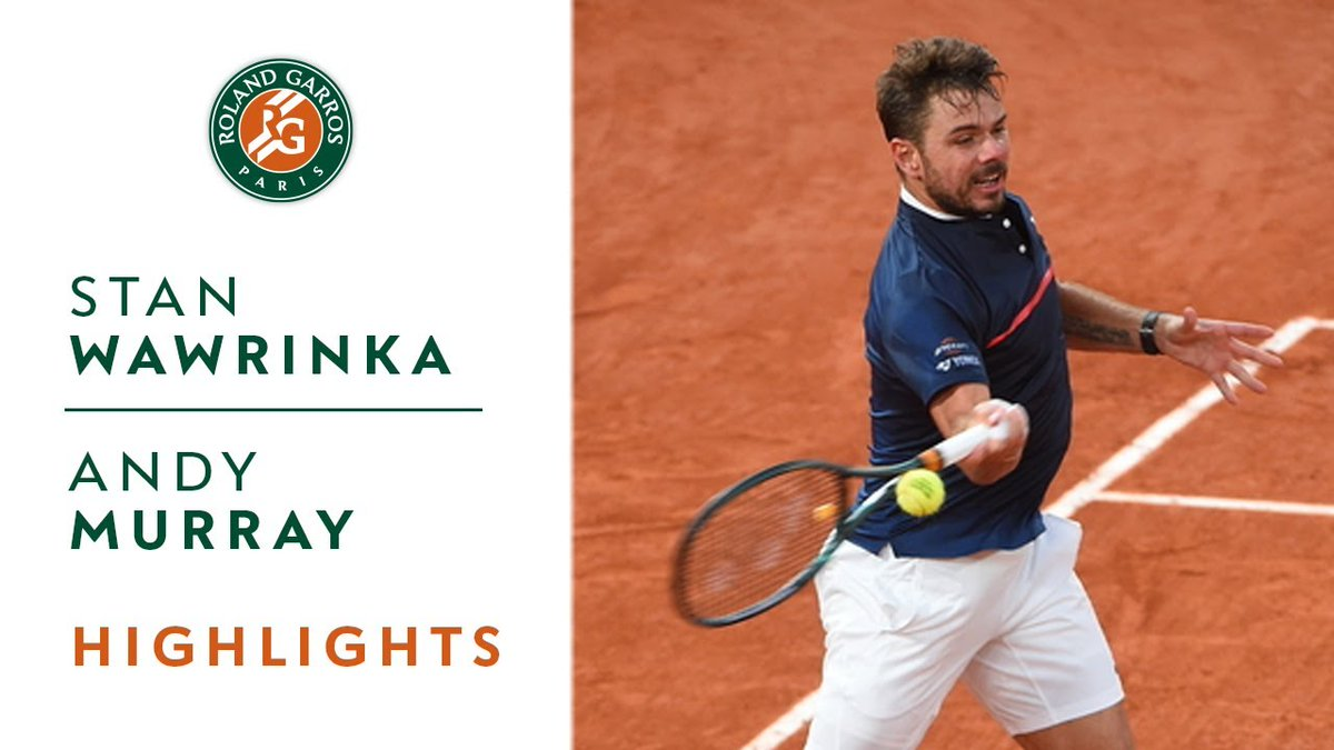 📺 Watch the highlights by @emirates of the 1st round match of Stan Wawrinka against Andy Murray.  🇨🇭The Swiss won 6-1, 6-3, 6-2.  #FlyEmiratesFlyBetter #BackInTheGame #RolandGarros https://t.co/qP7872EUlB